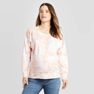 Maternity Tie-Dye Cotton Pullover